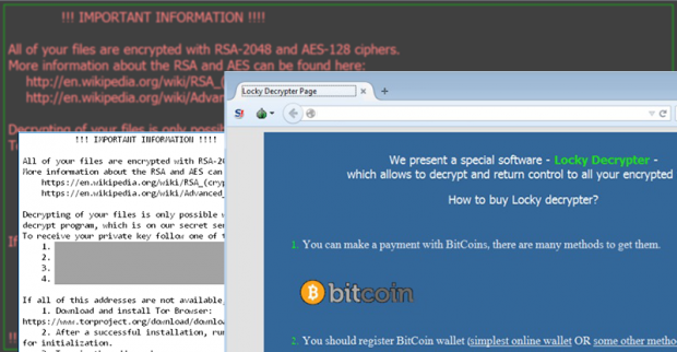 Locky virus sells victims their own files for Bitcoins