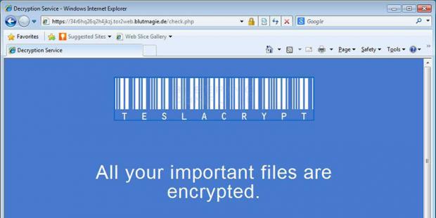 Tor-based TeslaCrypt Decryption Service site