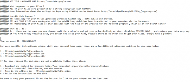 TXT version of decrypt instructions created by RZA4096 ransomware