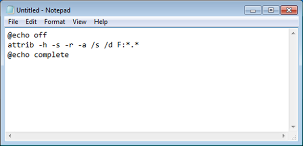 Batch command in Notepad