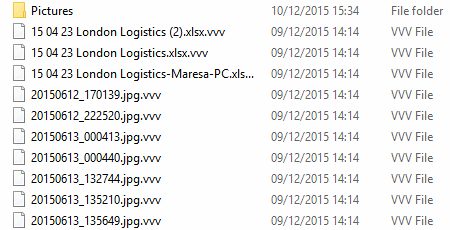 Encoded files with the .vvv extension