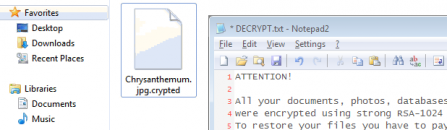 Decrypt and remove .crypted file extension virus
