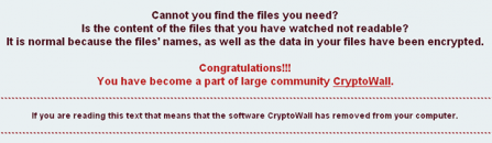 Remove CryptoWall 4.0 ransomware virus and recover encrypted files