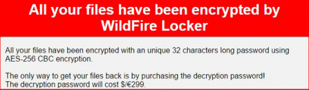WildFire Locker virus: how to decrypt .wflx ransomware files