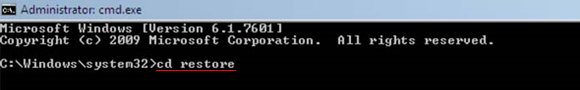cd restore command