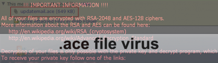 .Ace file virus: what is it and how to remove related ransomware