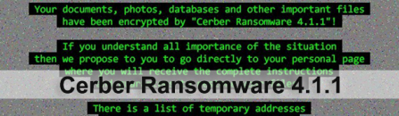 Cerber Ransomware 4.1.1: decrypt files and remove virus