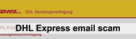 DHL scam emails distributing virus files