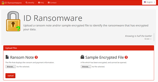 ID Ransomware service