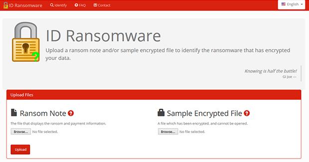ID Ransomware service