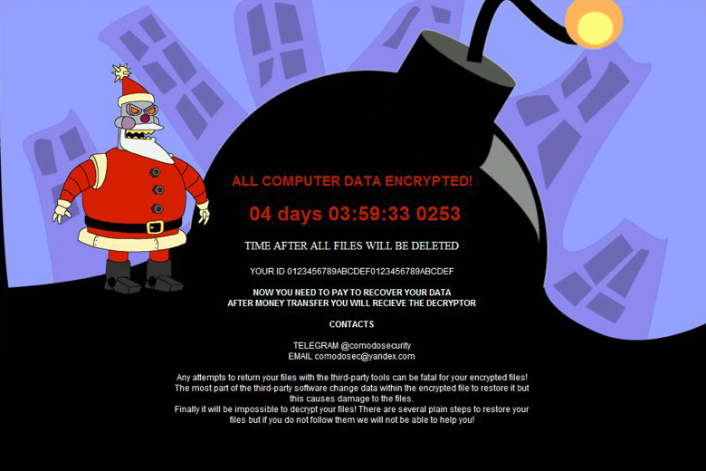 MERRY_I_LOVE_YOU_BRUCE.hta ransom note by the .MERRY file ransomware