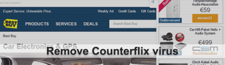 How to remove Counterflix virus ads in Windows