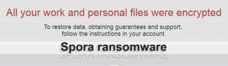 Spora ransomware decryption and removal
