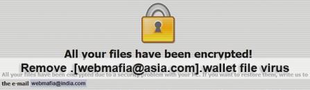 Decrypt and remove .[webmafia@asia.com].wallet file virus