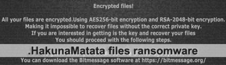 HakunaMatata ransomware virus removal and decryptor