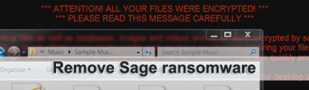 Sage 2.0 ransomware decryption and removal tutorial