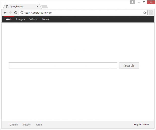 Query Router rogue homepage
