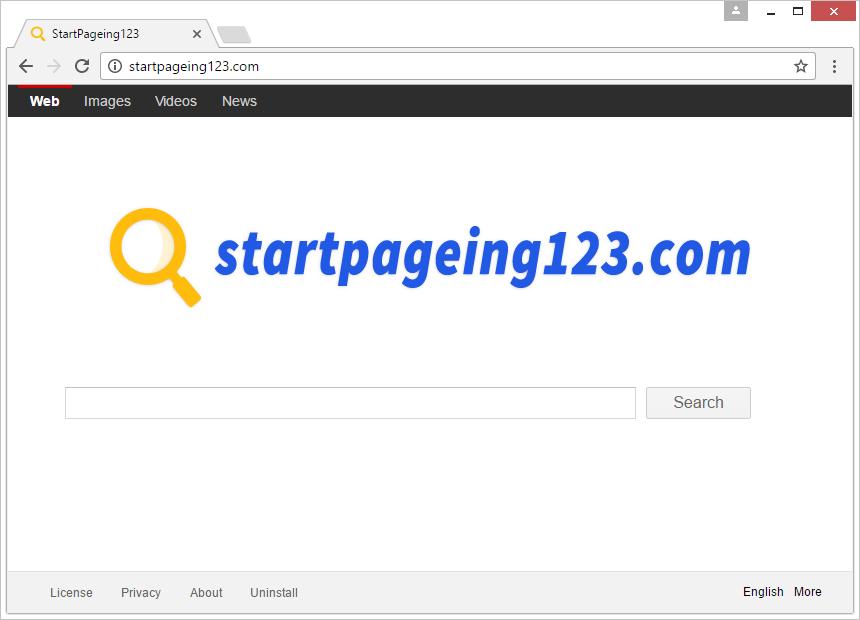 Startpageing123.com screenshot
