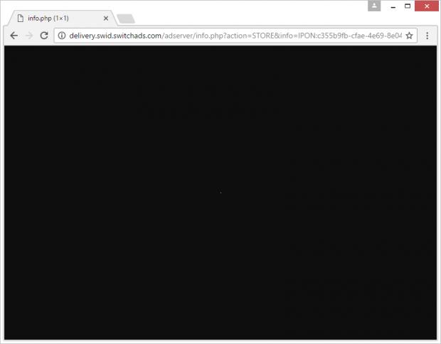 Bizarre landing page affiliated with Sync-eu.exe.bid virus