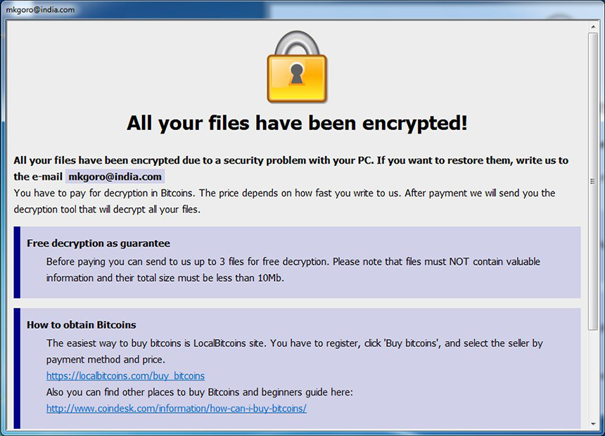 Dharma ransomware drops Info.hta ransom note