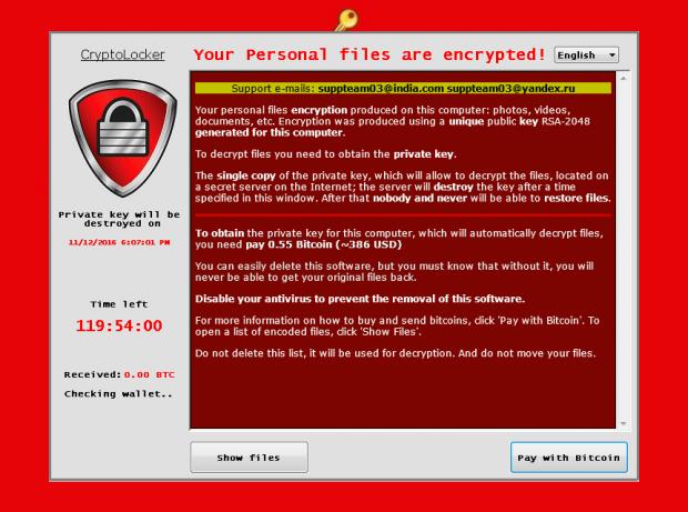 PClock ransom note window