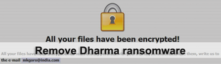 Dharma ransomware decryptor and removal