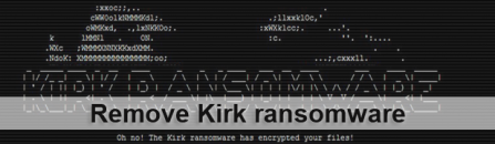 Kirk ransomware removal and .kirked files decryption