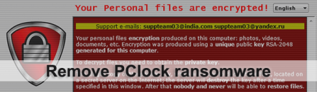 PClock ransomware decryptor and remover