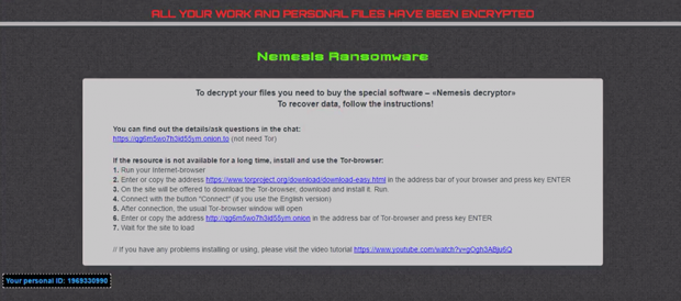 ### DECRYPT MY FILES ###.html decryption how-to by Nemesis ransomware