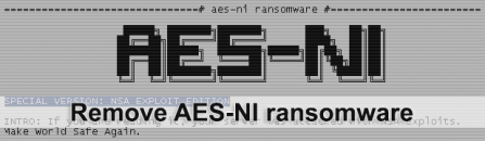AES-NI Ransomware removal: decrypt .aes_ni_0day files