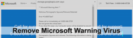 Microsoft Warning Alert scam: remove fake virus popups