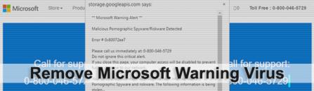 Microsoft Warning Alert scam: remove fake virus popups