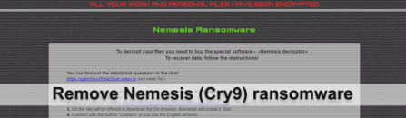 Nemesis decryptor: redeem encrypted files from Cry9/Nemesis ransomware