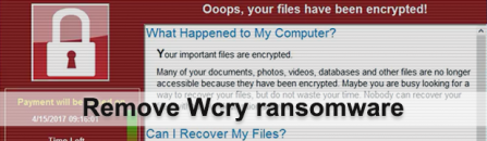 Wcry ransomware: .wcry files decryptor and virus removal