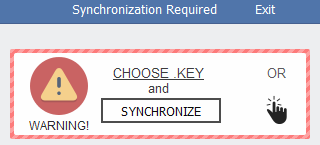 Synchronization warning on Spora Client Page