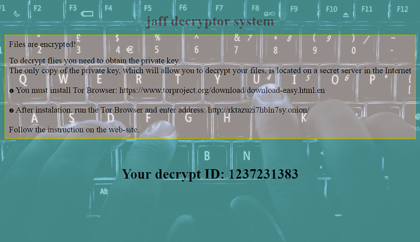 How to remove Jaff ransomware virus and decrypt  jaff files - MySpyBot