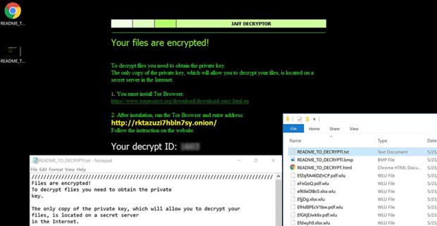 Upshot of Jaff .wlu ransomware attack