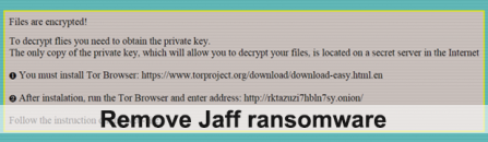 How to remove Jaff ransomware virus and decrypt .jaff files