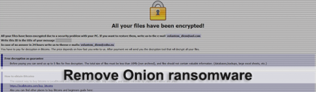 Onion ransomware: decrypt .onion virus extension files
