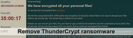 ThunderCrypt virus: decrypt files and remove ransomware