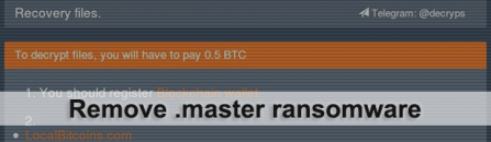 Decrypt .master ransomware files – BTCWare virus variant
