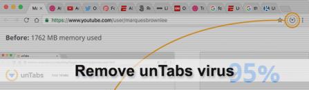 Remove unTabs virus in Chrome, Firefox, IE and Safari