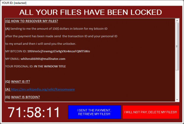 Fenrir ransomware GUI