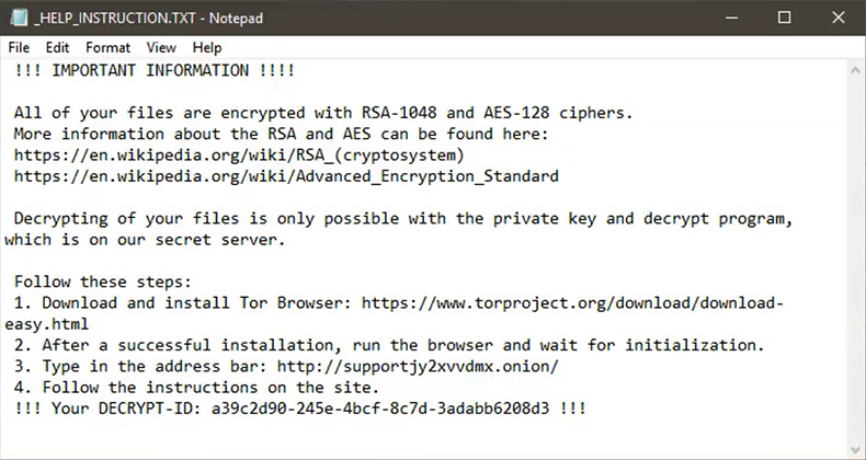 _HELP_INSTRUCTION.txt decryption manual dropped by Mole00 ransomware