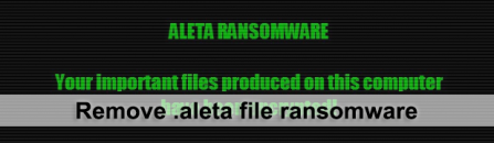 Decrypt and remove .aleta file extension ransomware (upd. July 16)