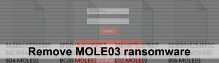 MOLE03 ransomware: how to decrypt .MOLE03 files