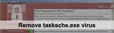 How to remove tasksche.exe ransomware virus