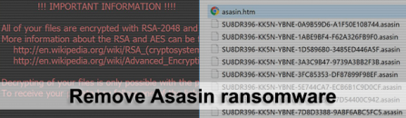 Decrypt .asasin virus files – Asasin/Locky ransomware removal