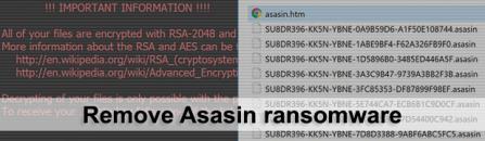 Decrypt .asasin virus files – Asasin/Locky ransomware removal