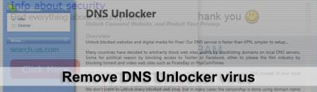 DNS Unlocker virus removal tool